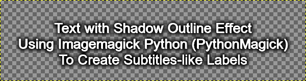 Text Shadow Outline in Python